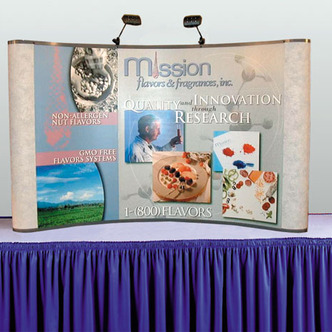 Mission Flavors & Fragrances Portable Tabletop Booth