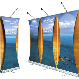 Monarch Skyline Banner Stand Display
