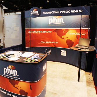 Phin Inline Trade Show Booth and Workstation