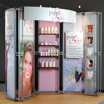 Pure & Basic Modular TRade Show Exhibit and Graphic