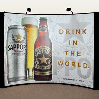Sapporo Portable Trade Show Display and Graphics