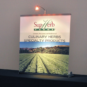 SupHerb Banner Stand Tabletop Display and Graphic