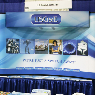 U.S. Gas & Electric Trade Show Tabletop Display