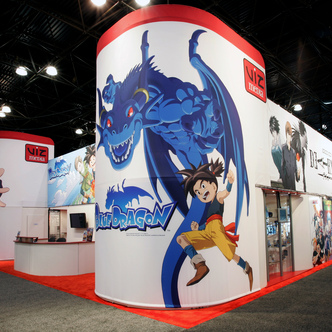 VIZ Media Island Exhibit