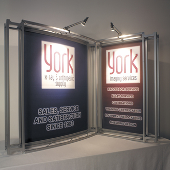 York X-Ray Supply Tabletop Tradeshow Display