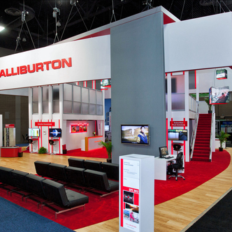 Halliburton Island Trade Show Exhibits
