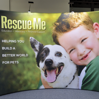 Rescue Me Portable WindScape Trade Show Display