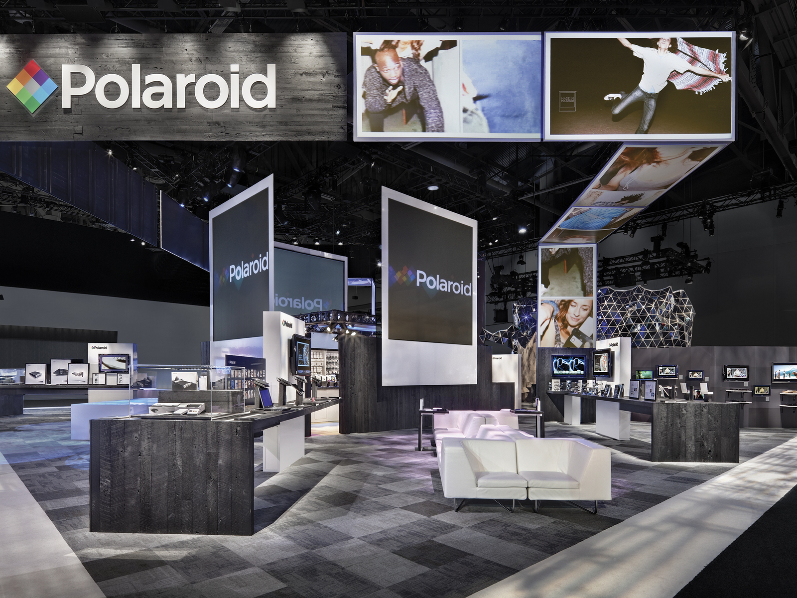 polaroid custom trade show exhibit - Booth Design Ideas
