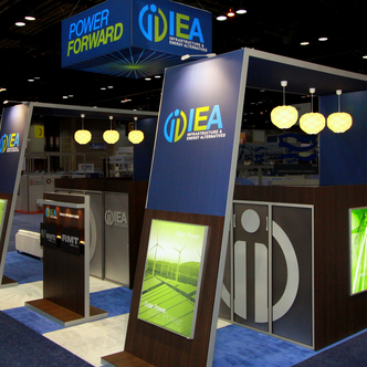 Trade Show Booth Design Ideas behr behr trade show exhibit Iea Island Exhibit Polaroid Custom Trade Show Exhibit