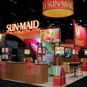 Sun-Maid Trade Show Exhibit Desigm