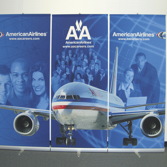 American Airlines Banner Stand Display