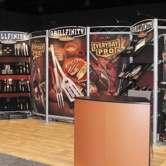 Grillfinity Inline Merchandising Trade Show Exhibit