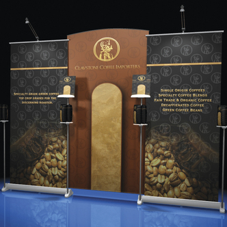 Claystone Merchandising Banner Stand Display