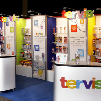 Tervis Inline Merchandising TRade Show Exhibit