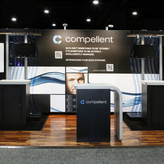 Compellent Inline Tradeshow Exhibit Design