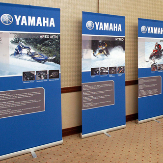 Yamaha 3000-R Event Banner Stand Displays