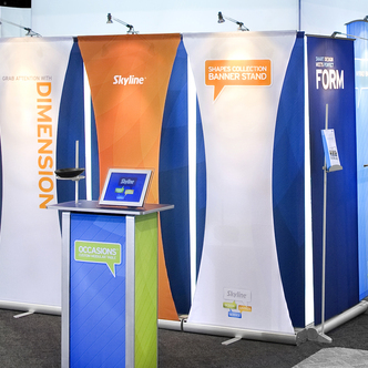 Skyline Shapes Trade Show Banner Stand