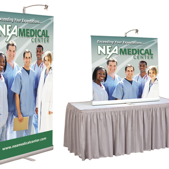 NEA Medical Banner Stand and Tabletop Display