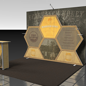 Bearhaven Custom-Shape Trade Show Display