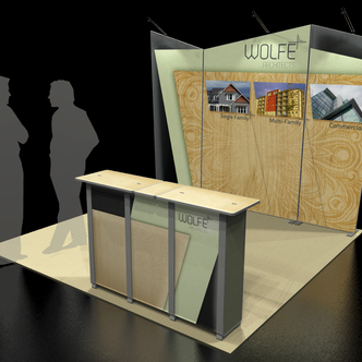 Wolfe Custom-Shape Trade Show Display