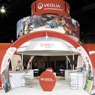 Veolia Island Trade Show Exhibit