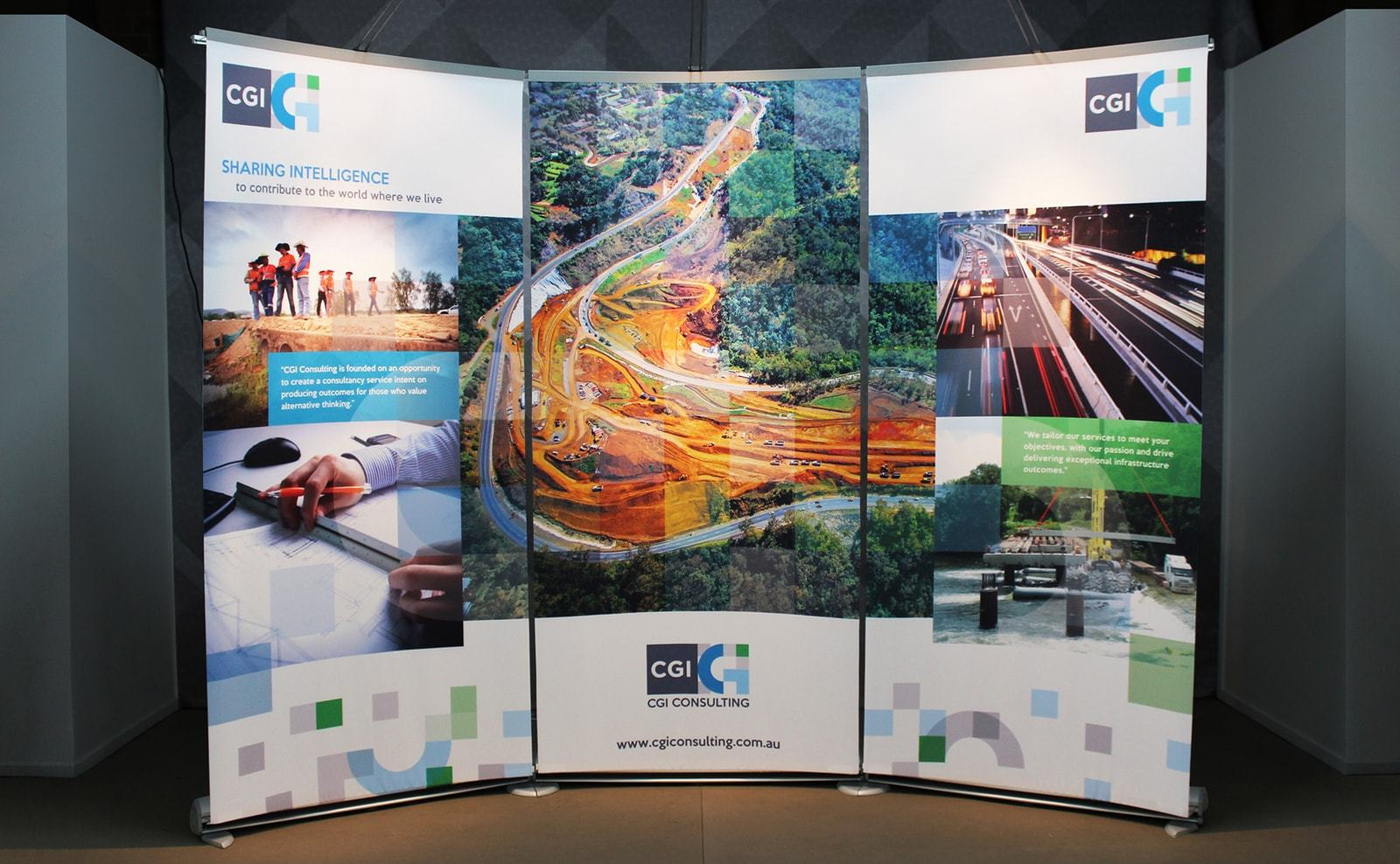 cgi consulting banner stand display