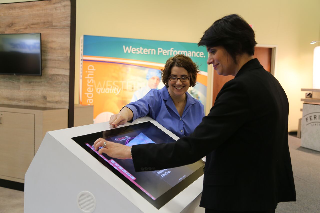 digital touchscreen kiosk for events and environments