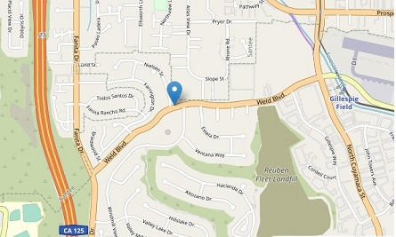 Map to Skyline Exhibits San Diego