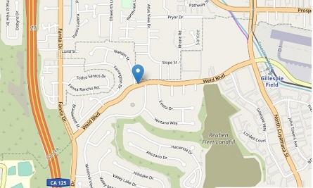 Map to Skyline San Diego trade show displays