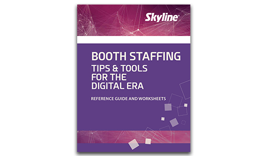 digital booth staffing exhibiting tradeshows skyline whitepaper