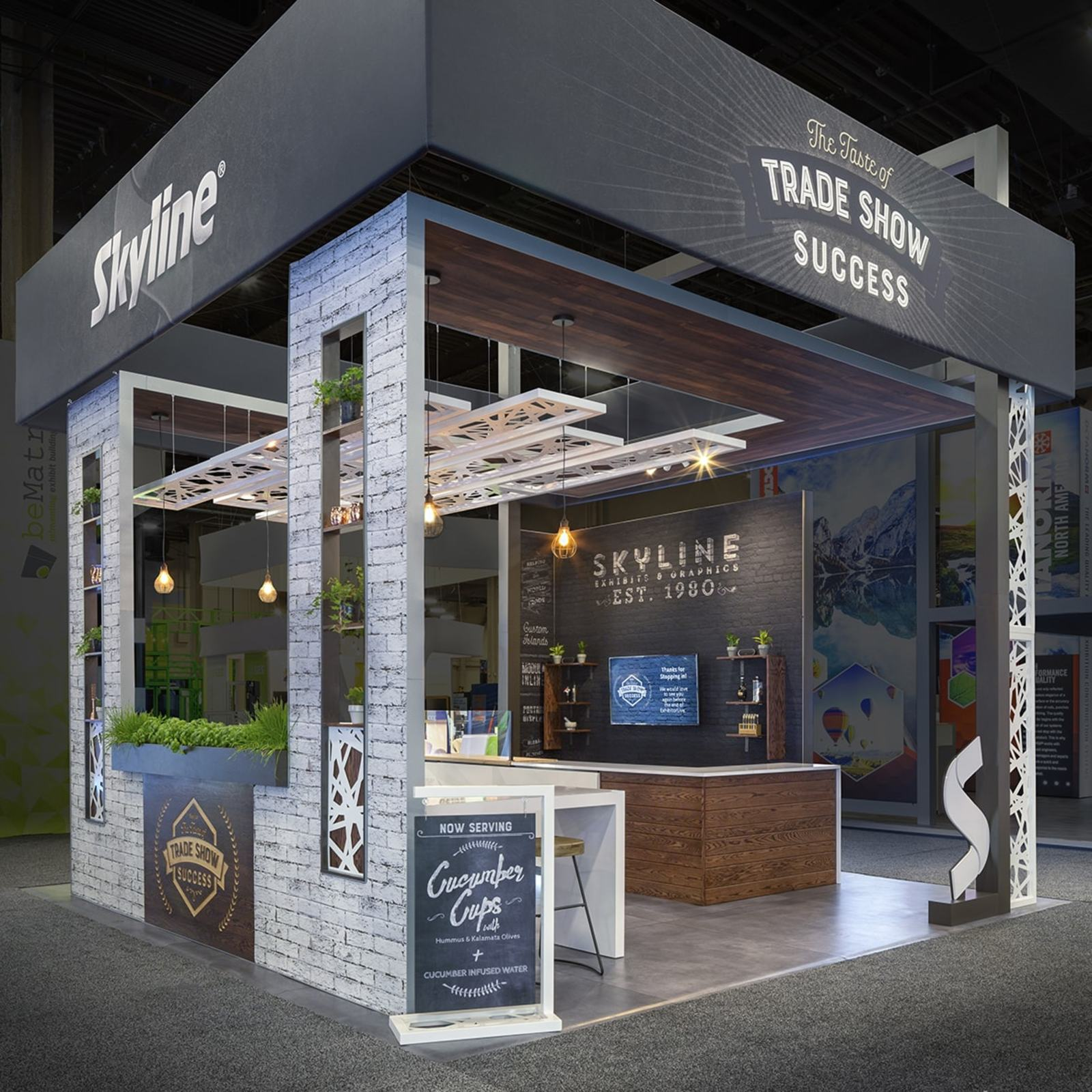 Skyline trade show display