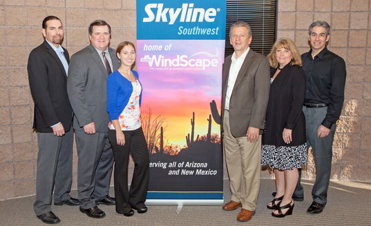 Dave Bouquet, Bill Dierberger, Katherine Stuart, David Byram, Barb Baker & Michael Seligman at Skyline Southwest's Grand Opening in Phoenix, AZ.