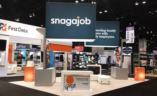 Trade Show Booth Display for SnagAJob.com Designed and Manufactured by Skyline Metro DC