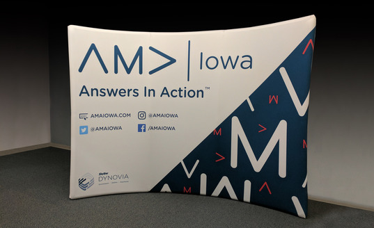 AMA Iowa portable trade show display