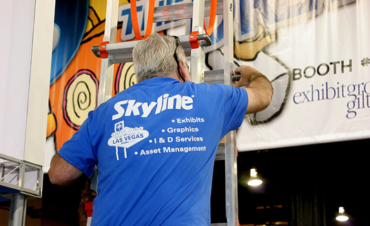 install dismantle services i&d tradeshows expo drayage indiana skyline