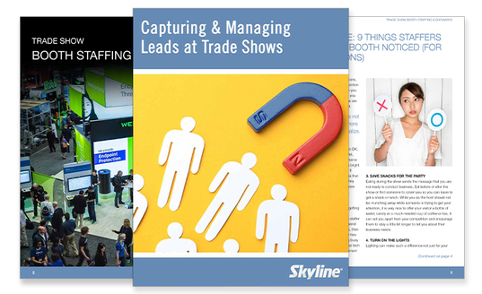 capturing managing leads book whitepaper skyline tradeshow exhibit display education tips