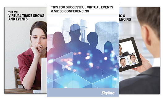 virtual events book skyline exhibits marketing tradeshows expo conventions