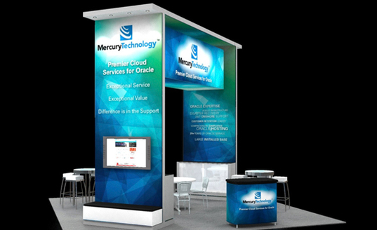 Mercury Technology Group trade show booth