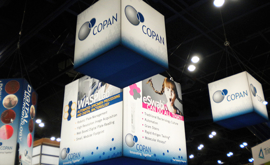 Copan Diagnostics trade show booth