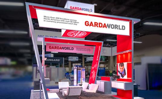 Garda trade show booth