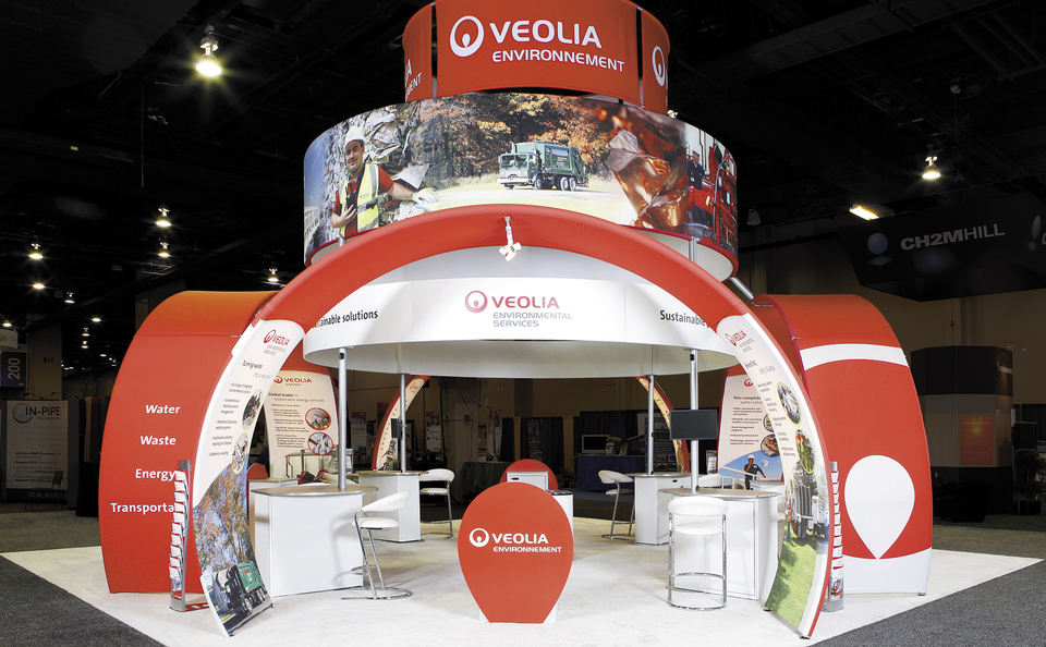 Skyline New Jersey Veolia trade show booth