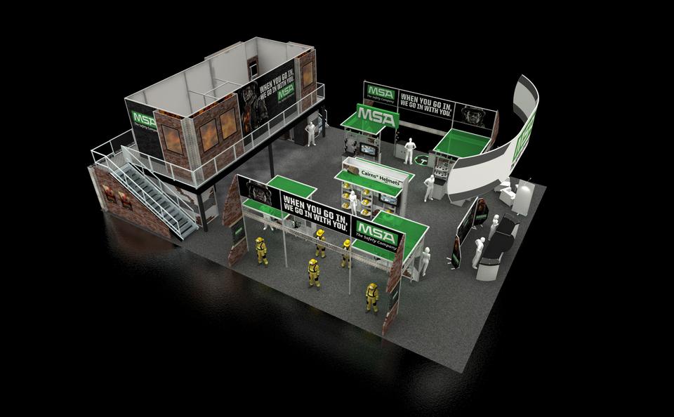 MSA booth at trade show