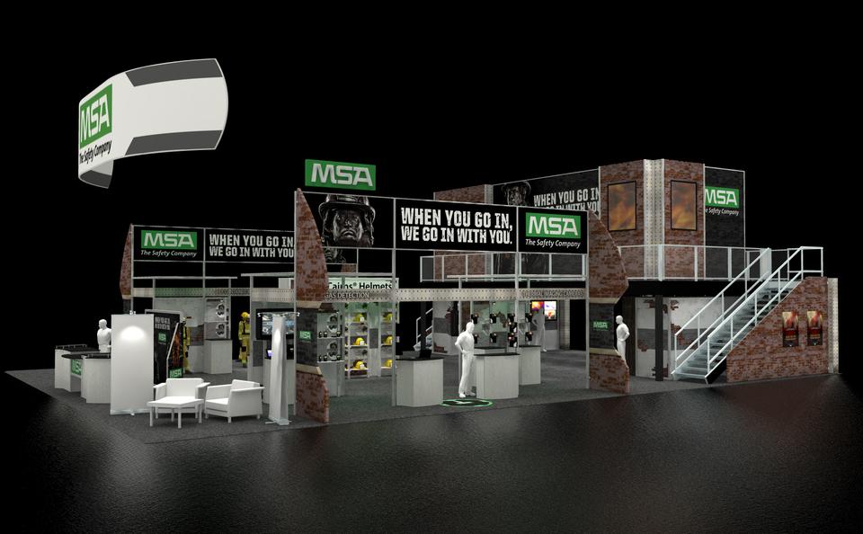 MSA trade show exhibit design rendering