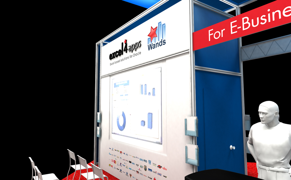 Excel4Apps trade show exhibit design rendering