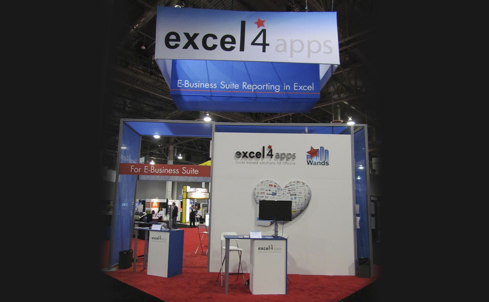 Excel4Apps booth at trade show