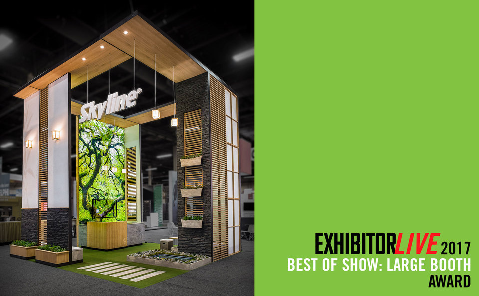 Skyline Exhibits Award Winning Booth at EXHIBITORLIVE 2017