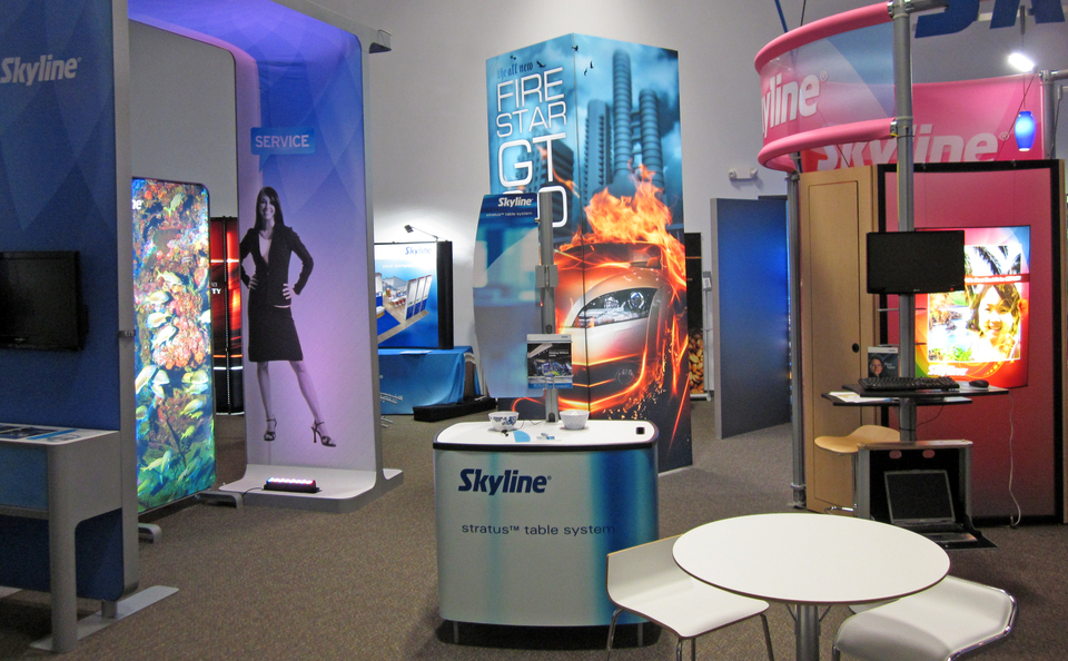 Skyline Philadelphia's Show Room in Phoenixville PA is full of Trade Show Display Designs and Ideas