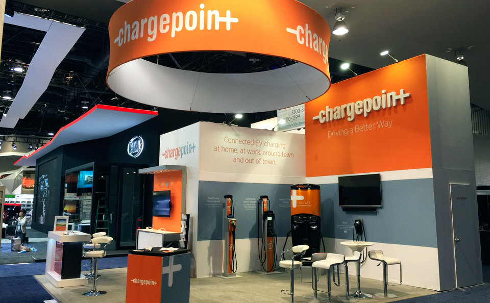Skyline Midsouth Island Trade Show Booth for Chargepoint