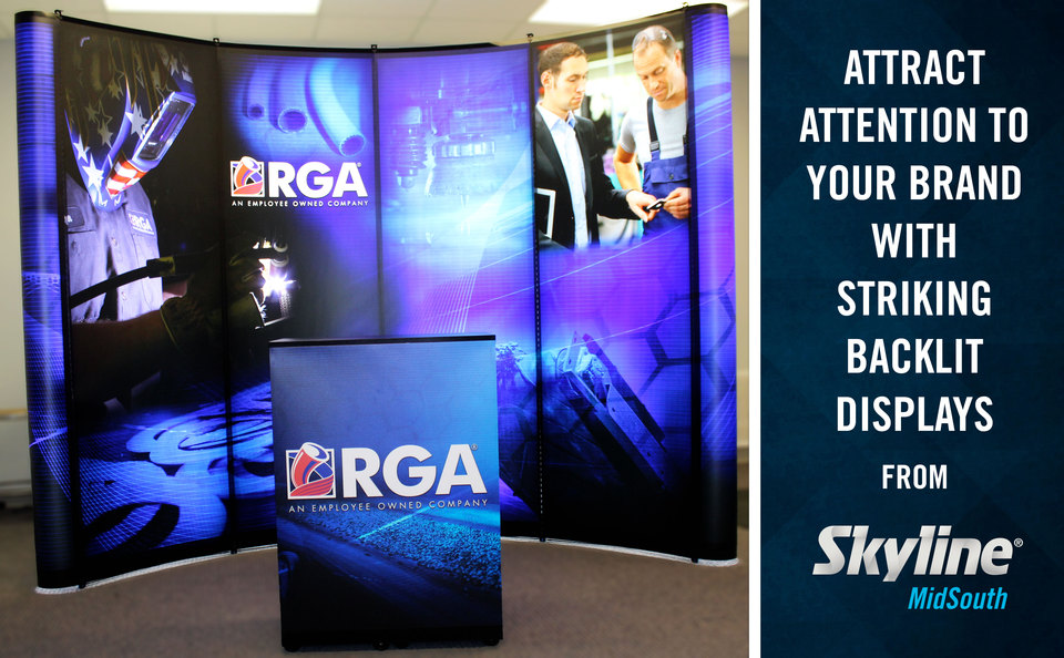 Attract Attention to your Brand with Striking Backlit Trade Show Displays from Skyline MidSouth