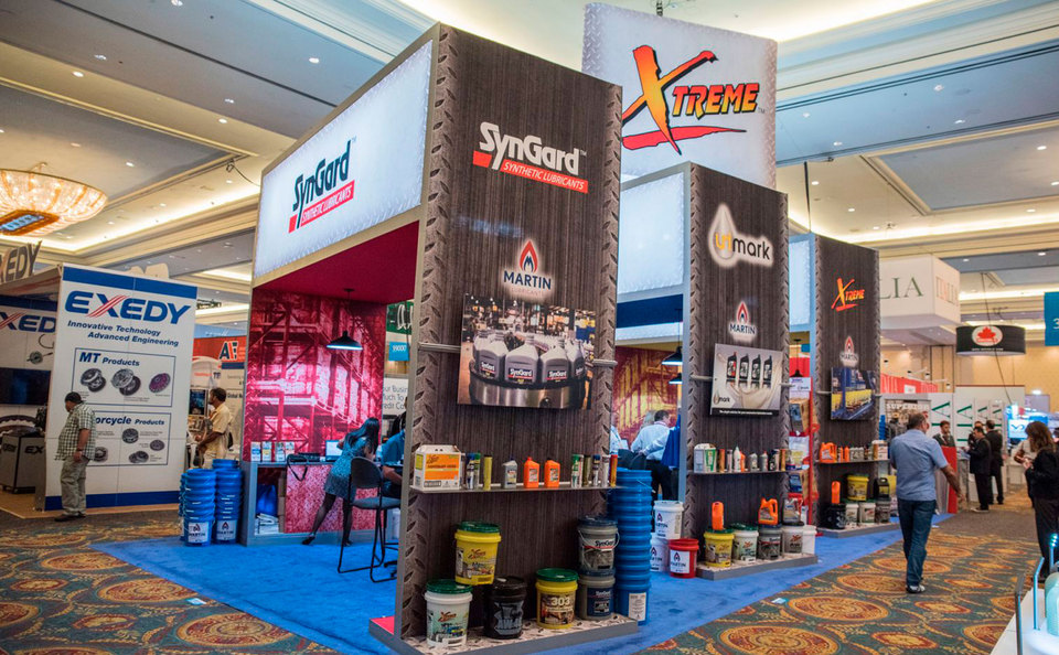 Custom Island Trade Show Displays with Product Displays